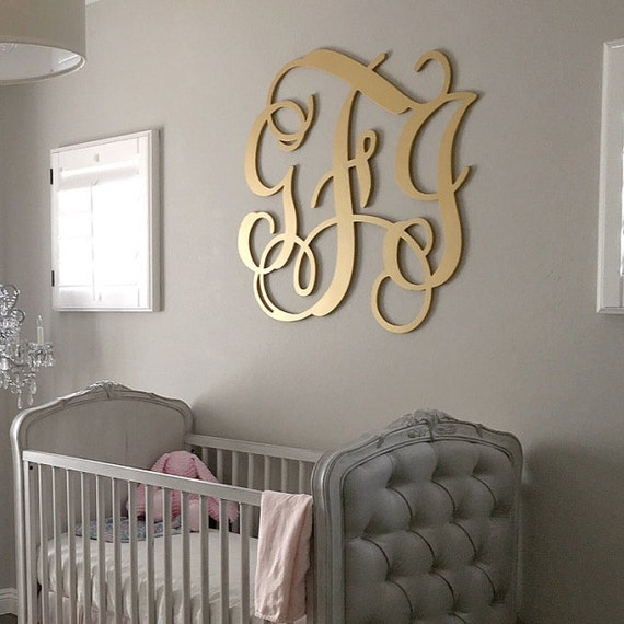 Wooden Monogram Large Wood Monogram Wall Hanging Letters