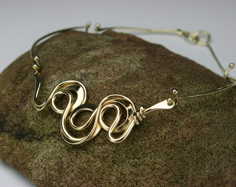 Triple Loop Bronze Necklace- Handmade