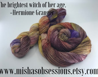 The brightest witch of her age. -Hermione Granger on Perfect(75/25 sw merino/nylon) 463yards