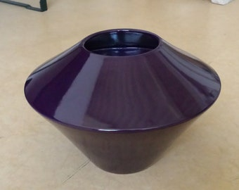 Asa Keramik 83103: austere W. German pottery from the seventies / eighties, mid-century, deep violet / purple, ufo model