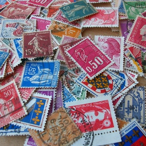 20 PARIS STAMP collection - Cute vintage assorted set of French stamps - S-20
