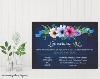 Morning After Invitation, Post Wedding Brunch Invitation, Morning After Brunch, Rise & Shine Invite W29002