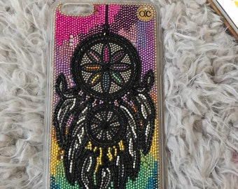 iPhone X, iPhone 8, All iPhone & Samsung Dream Catcher Personalized Phone Case Colorful Sky