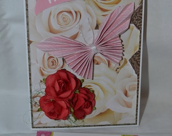 Butterfly Happiness Mixed Media Card