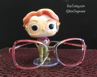 Vintage 1980's Charlie Couver Oversized Plastic Eyeglasses