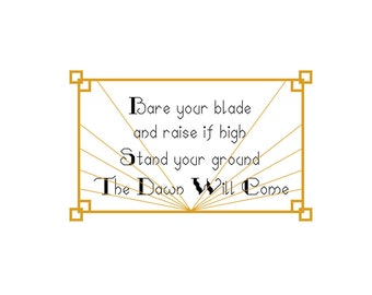 Dragon Age Cross Stitch PATTERN ONLY The Dawn Will Come