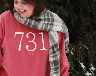 Area Code 731 Crimson Sweatshirt