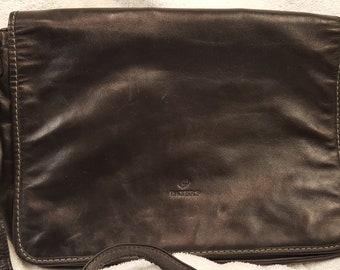 Paters Black Leather Messenger/Shoulder Bag