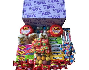 Mega Bubblegum Bubble Chewing Gum Sweets Gift Box Wrigleys Bubbaloo & More..