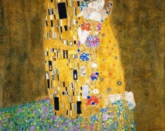 Kiss by Gustav Klimt Vintage digital art Printable love poster Gift for lovers Beautiful erotic print Download picture Ihappywhenyouhappy