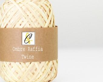 Clearance Bulk Mustard Ombre raffia twine ribbon 100 yards