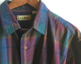 Vintage L.L.Bean Plaid Shirt Mens XL