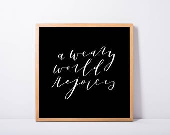 A Weary World Rejoices—hard copy