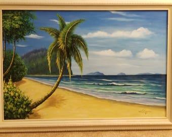 "W. Chapman Oil On Canvas ORIGINAL Painting ""Kauai"""