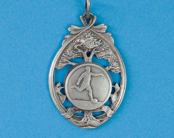 French vintage soccer or football medal in an Art Nouveau style