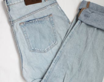 Vintage Calvin Klein High Waisted Jeans Distressed Denim 90s Relaxed Mom Jean Fit W30