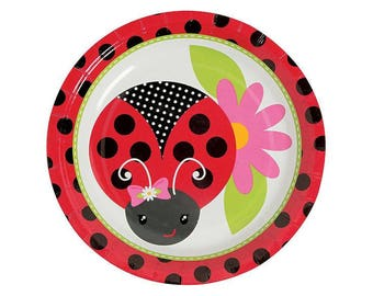 My Beautiful Ladybug Dessert plate  / ladybug theme / ladybug party