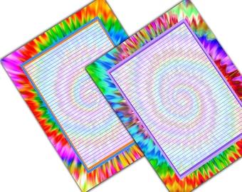tye dye coloring pages - photo#24