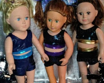 18 inch Doll Black Practice Set