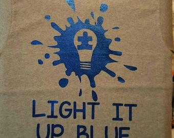 Autism awareness light it up Blue t shirt/autism team shirt/Teacher shirt