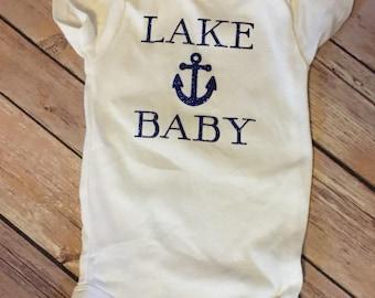 Lake baby onesie, lake life onesie
