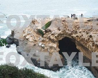Ocean Cave Landscape San Diego California Digital Picture