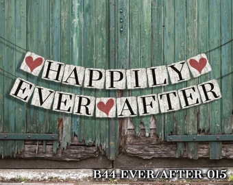 Happily Ever After Banner, Wedding Decor, Reception Decor, Wedding Banner Sign, Custom Banners, Personalized, Wedding Photo Props, Pictures