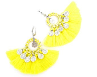 Limited Edition - BO BOLLYWOOD yellow lemon tassel