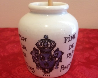 Sarreguemines Fine Dijon Jar With Stir Stick