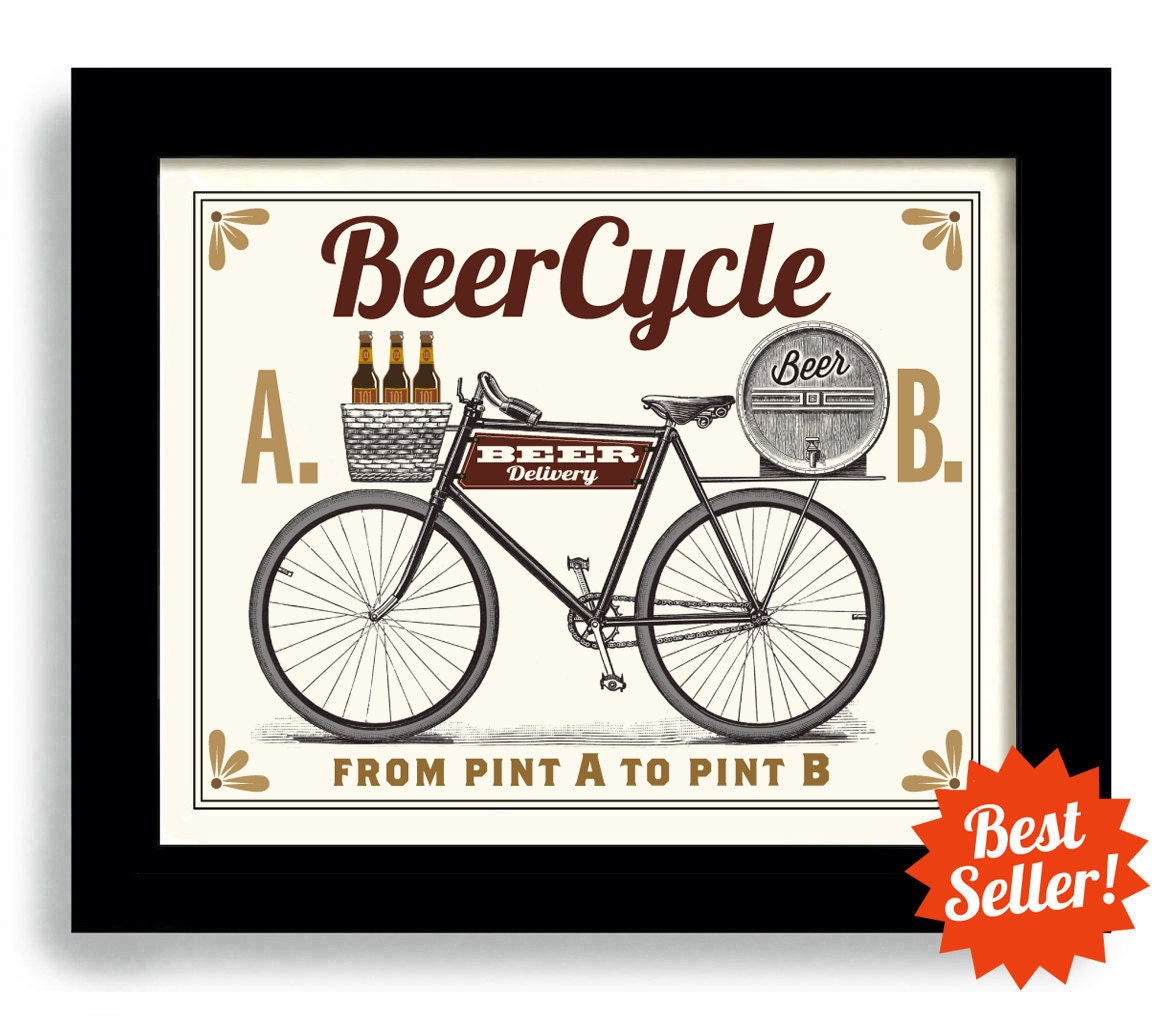 Bike Gifts for Men Beer and Bicycle Gift Craft Beer Gift for