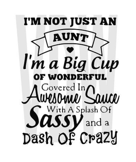 Crazy Aunt Cutting Files Silhouette Svg Dxf And Eps Vinyl Cut