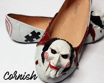 Custom made Saw flat's Jigsaw Billy the Puppet Horror couture