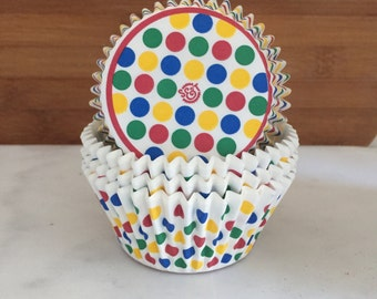 Circus Dot BakeBright Cupcake Liners, Taller Sized, Baking Cups (30)