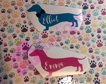 Dachshund Decal [ 2 color ]