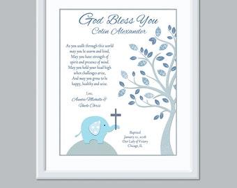 Baptism Gift for Boys - Christian Nursery Decor - Baptism Decor Gift for Baptism Baby Boy Name Art Christian Baby Gift Baby Personalized Boy