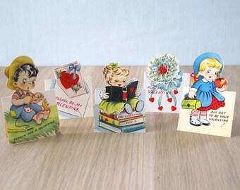 Vintage Set of Valentines Unused A Meri Card