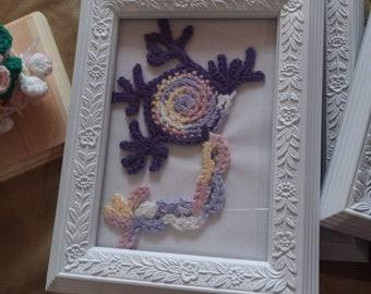Framed Crocheted Neuron
