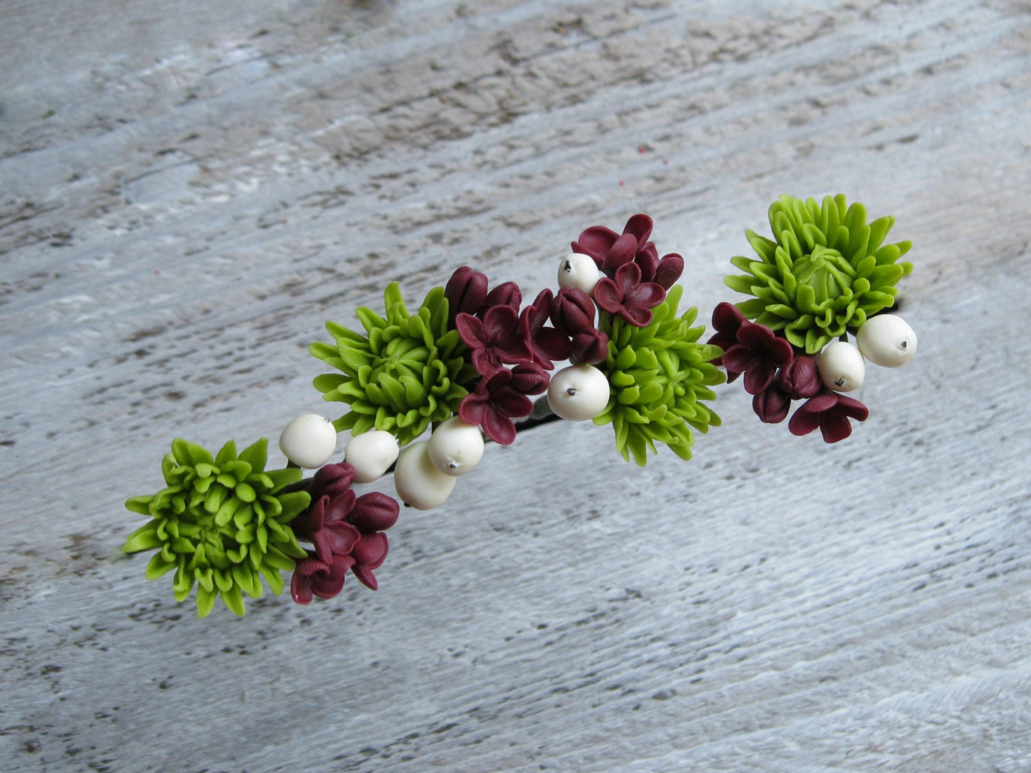Flower hair pins bridal hair pin polymer clay flower cold zoom izmirmasajfo Image collections