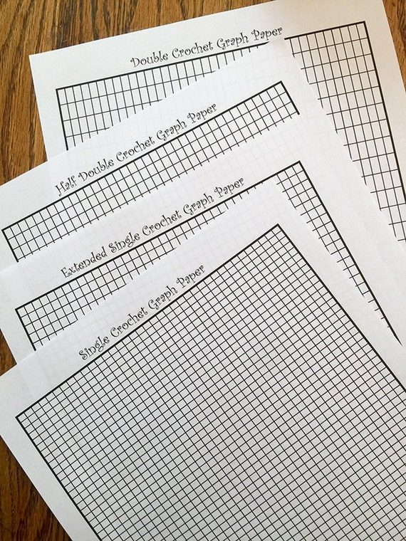 Tapestry Crochet Intarsia Graph Paper  Formatted For Sc Exsc Hdc