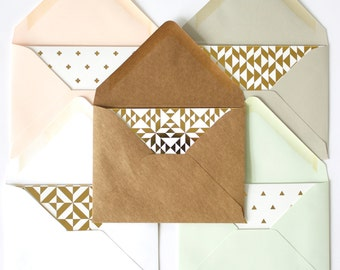 Gold Foil Notecards + Envelopes