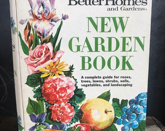 Vintage 1968 Better Homes And Gardens New Garden Book