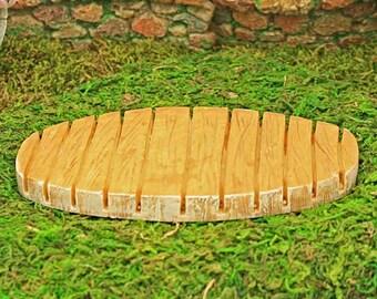 Fairy Garden Decking, Miniature Wooden Decking,  Decking for Fairy Furniture, Fairy Garden Furniture, Accessories, Miniature Fairy Accessory