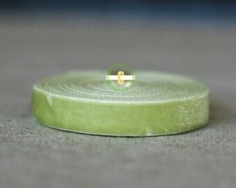10 yd roll of Lime Velevet Ribbon