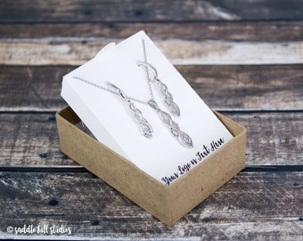 Gift Box Jewelry Card Inserts 3 12 x 3 12 x