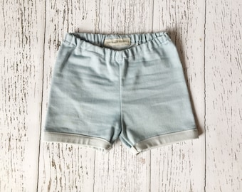 Baby shorts, baby girl shorts, baby boy shorts, denim shorts, chambray shorts, toddler shorts, infant shorts, baby outfit