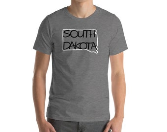 South Dakota State Art Name Shirt Hand Drawn Hand Lettering Hand Writing Tee Short Sleeve Top