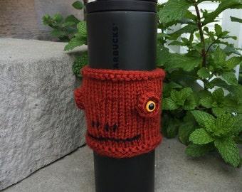 Star Wars Admiral Ackbar cup cozy, hand knit/crocheted
