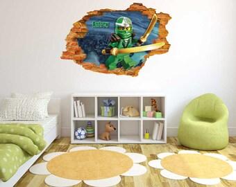 Customs name ninjago - 3D Wall Effect -  Wall Decal For Home Nursery Decoration
