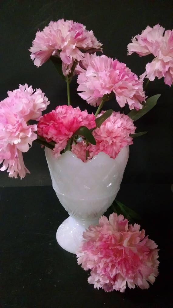 E o brody vintage milk glass vase star shaped flower pattern mightylinksfo