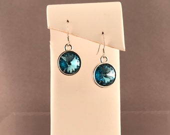 Aquamarine Swarovski Earrings